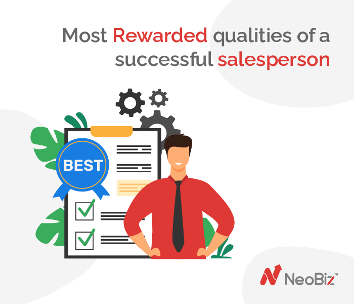 Most Rewarded qualities of a successful salesperson